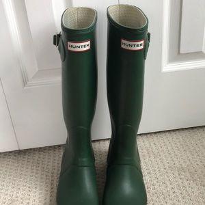 Green Hunter Rain Boots